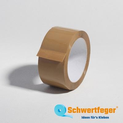 Packband PP Klebeband, braun SPADA 523  Naturkautschukkleber, leicht abrollend 50 mm x 66 m lang