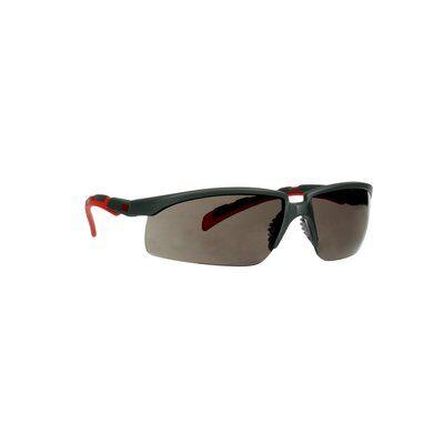 3M™ Solus™ 2000 Schutzbrille, grau/rote Bügel, Scotchgard™ Anti-Beschlag Beschichtung (K&N), graue Scheibe, winkelverstellbar, S2002SGAF-RED-EU