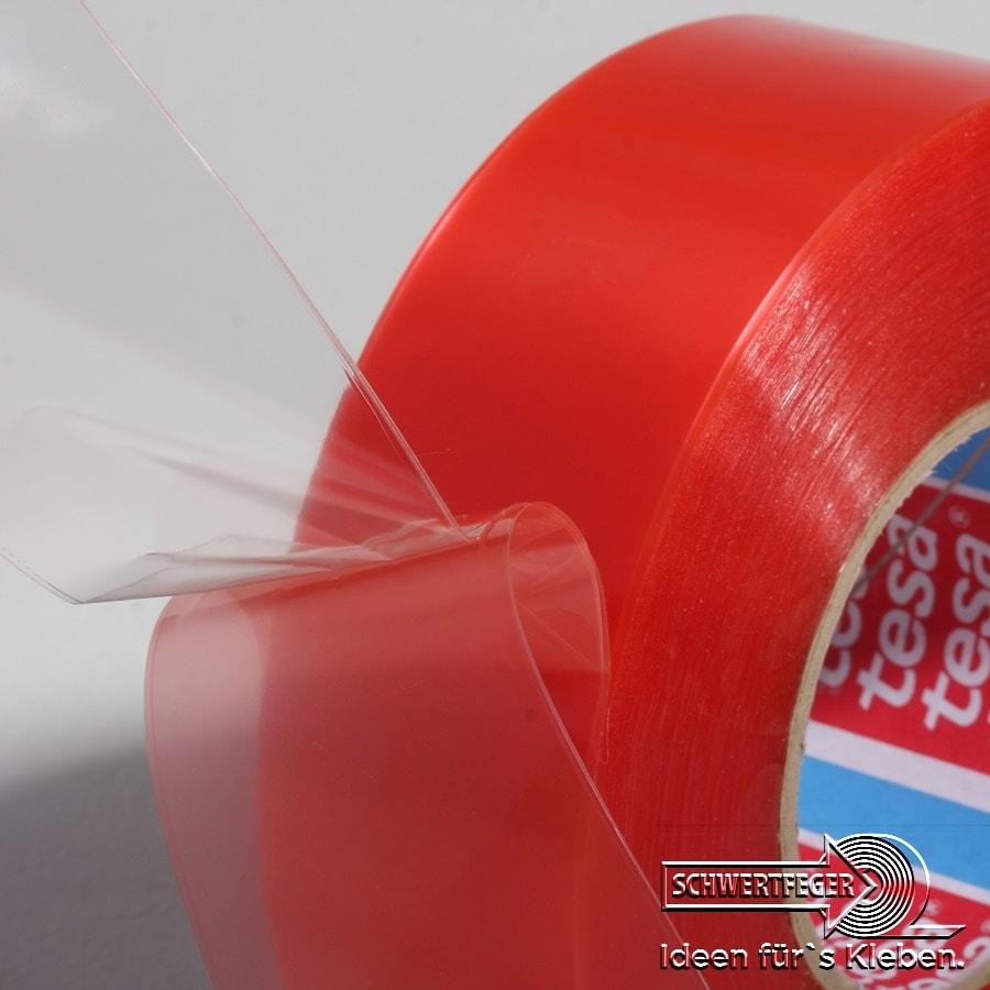 Tesa 4965 doppelseitiges Klebeband transparent 25 mm x 50 m