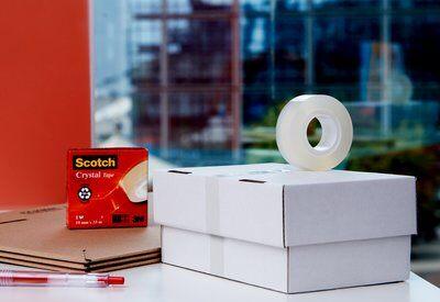 Scotch® Tischabroller C60, schw. + Scotch® Crystal Klebeb., 10 R., 19 mm x 33 m