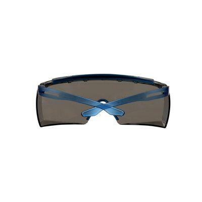 3M™ SecureFit™ 3700 Überbrille, blaue Bügel, integrierter Augenbrauenschutz, Scotchgard™ Anti-Beschlag Beschichtung (K&N), graue Scheibe, winkelverstellbar, SF3702XSGAF-BLU-EU
