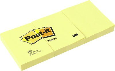 Post-it® Notes 675YL, 100 x 100 mm, gelb, 1 Block à 300 Blatt