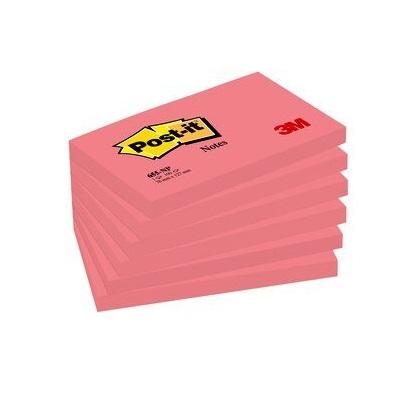 Post-it® Notes 655NPI, 127 x 76 mm, neonpink, 1 Block à 100 Blatt