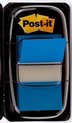 Post-it® Index I680-2, 25,4 x 43,2 mm, blau, 1 x 50 Haftstreifen im Spender