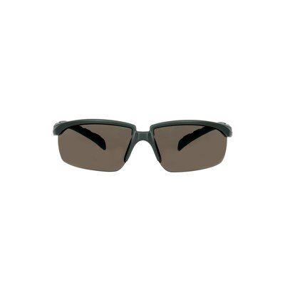 3M™ Solus™ 2000 Schutzbrille, grau/türkisfarbene Bügel, Scotchgard™ Anti-Beschlag Beschichtung (K&N), graue Scheibe, winkelverstellbar, S2002SGAF-BGR-EU