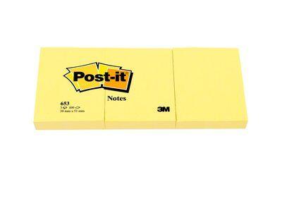 Post-it® Notes 662, 102 x 152 mm, gelb, 1 Block à 100 Blatt