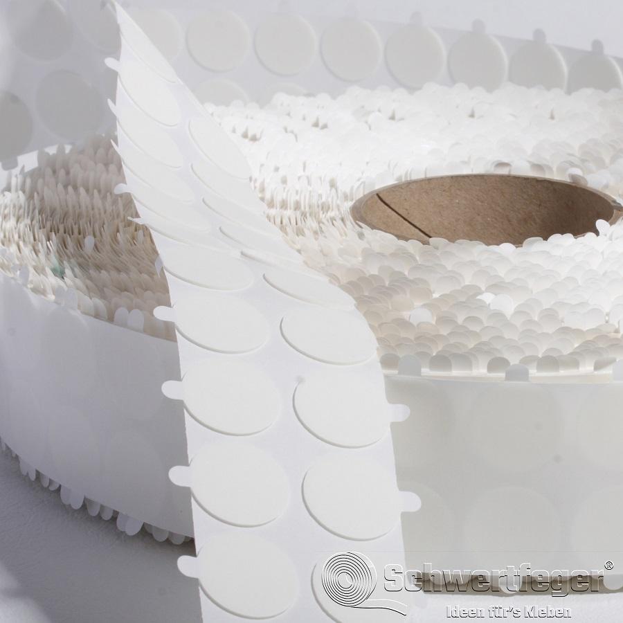 Formstanzteile aus SPADA® 5474 weiß 1 mm Dicke Durchmesser 15 mm 5.000 Stück