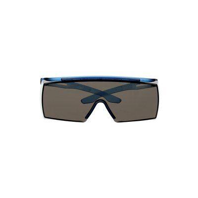 3M™ SecureFit™ 3700 Überbrille, blaue Bügel, Scotchgard™ Anti-Beschlag Beschichtung (K&N), graue Scheibe, winkelverstellbar, SF3702SGAF-BLU-EU