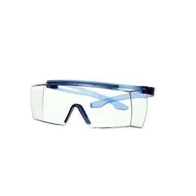 3M™ SecureFit™ 3700 Überbrille, blaue Bügel, kratzfest+ (K), transparente Scheibe, winkelverstellbar, SF3701ASP-BLU-EU