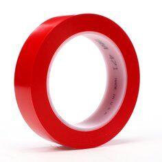 3M™ 471 Hochwertiges Weich-PVC-Klebeband, 25 mm x 33 m, Rot