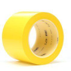 3M™ 471 Hochwertiges Weich-PVC-Klebeband, 75 mm x 33 m, Gelb