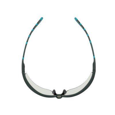 3M™ Solus™ 2000 Schutzbrille, grau/türkisfarbene Bügel, Scotchgard™ Antibeschlag-Beschichtung (K&N), graue Scheibe für Innen-/Außenbereich, winkelverstellbar, S2007SGAF-BGR