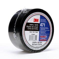 3M™ 471 Hochwertiges Weich-PVC-Klebeband, 38 mm x 33 m, Schwarz