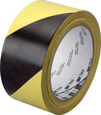 3M™ 766i Gefahren-Markierungs-Klebeband, 50 mm x 33 m, Gelb/Schwarz