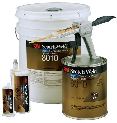 3M™ Scotch-Weld™ 2-Komponenten-Konstruktionsklebstoff auf Acrylatbasis DP8010, Blau-Grün, 490 ml