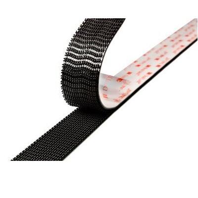 3M™ Dual Lock™ flexibler Druckverschluss SJ3550, schwarz, 12 mm x 45,7 m, 5,7 mm, 40 Köpfe/cm2