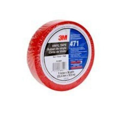 3M™ 471 Hochwertiges Weich-PVC-Klebeband, 19 mm x 33 m, Rot