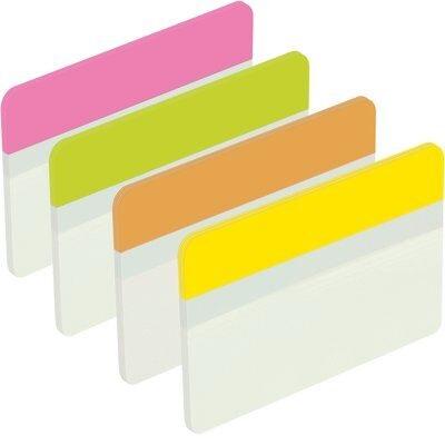 Post-it® Index Strong 686-F1EU, 50,8 x 38 mm, blau, gelb, grün, rot, 4 x 6 Haftstreifen