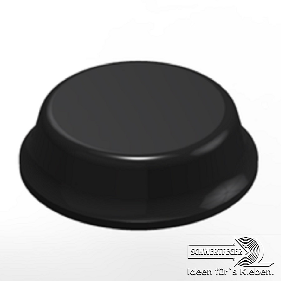3M SJ 5012 Elastikpuffer schwarz Breite 12,7 mm Dicke 3,5 mm