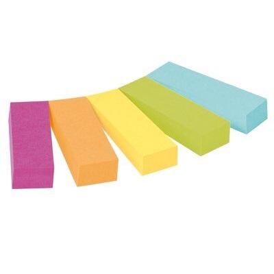 Post-it® Page Marker 670-5CA, 12,7 x 44,4 mm, neongrün, neonorange, türkis, ultragelb, ultrapink, 5 x 50 Blatt