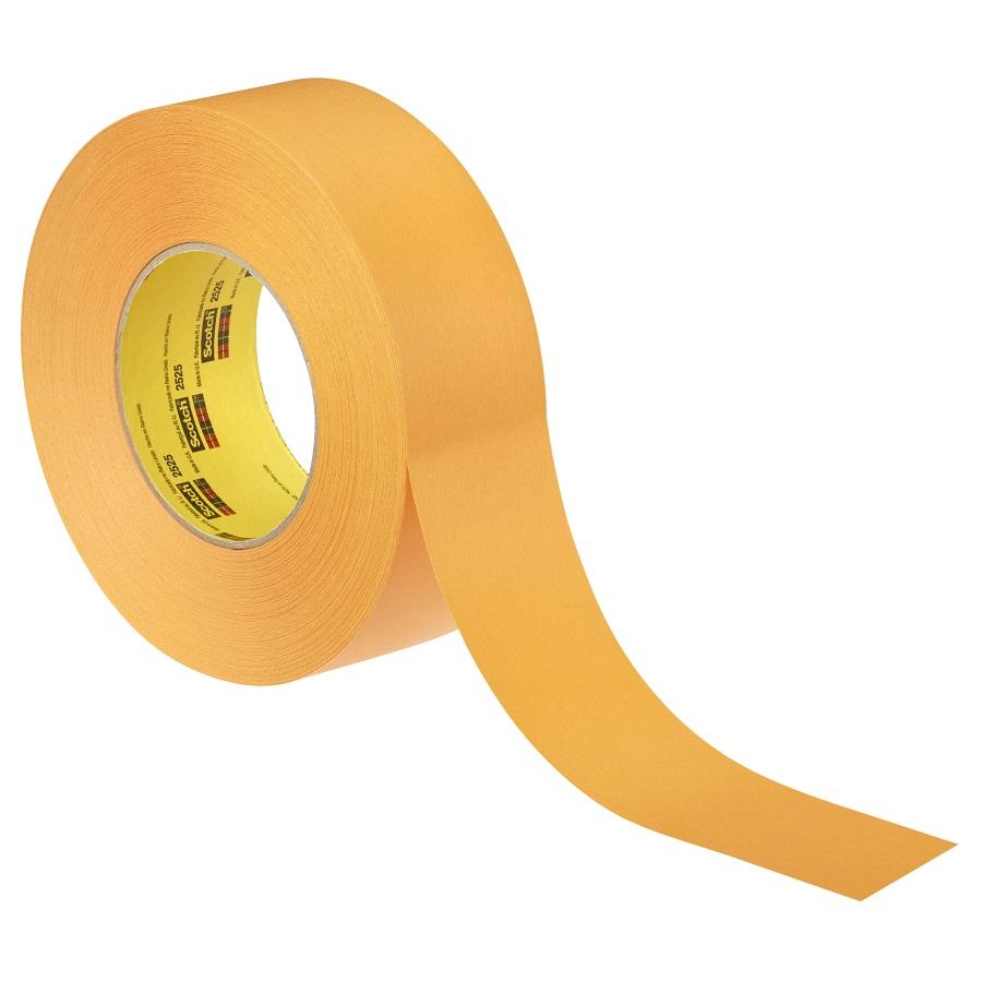 3M 2525 Kreppklebeband flachgekreppt orange 48 mm x 55 m
