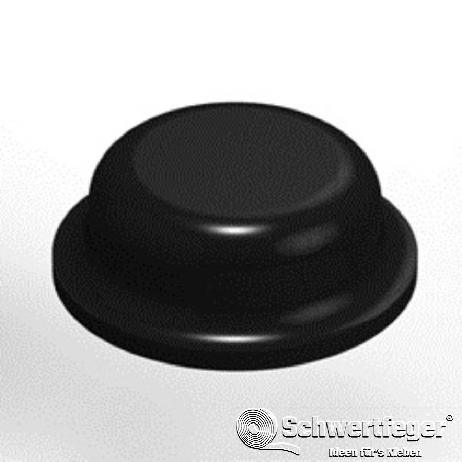 3M SJ 5076 Elastikpuffer schwarz Durchmesser 8 mm Dicke 2,8 mm