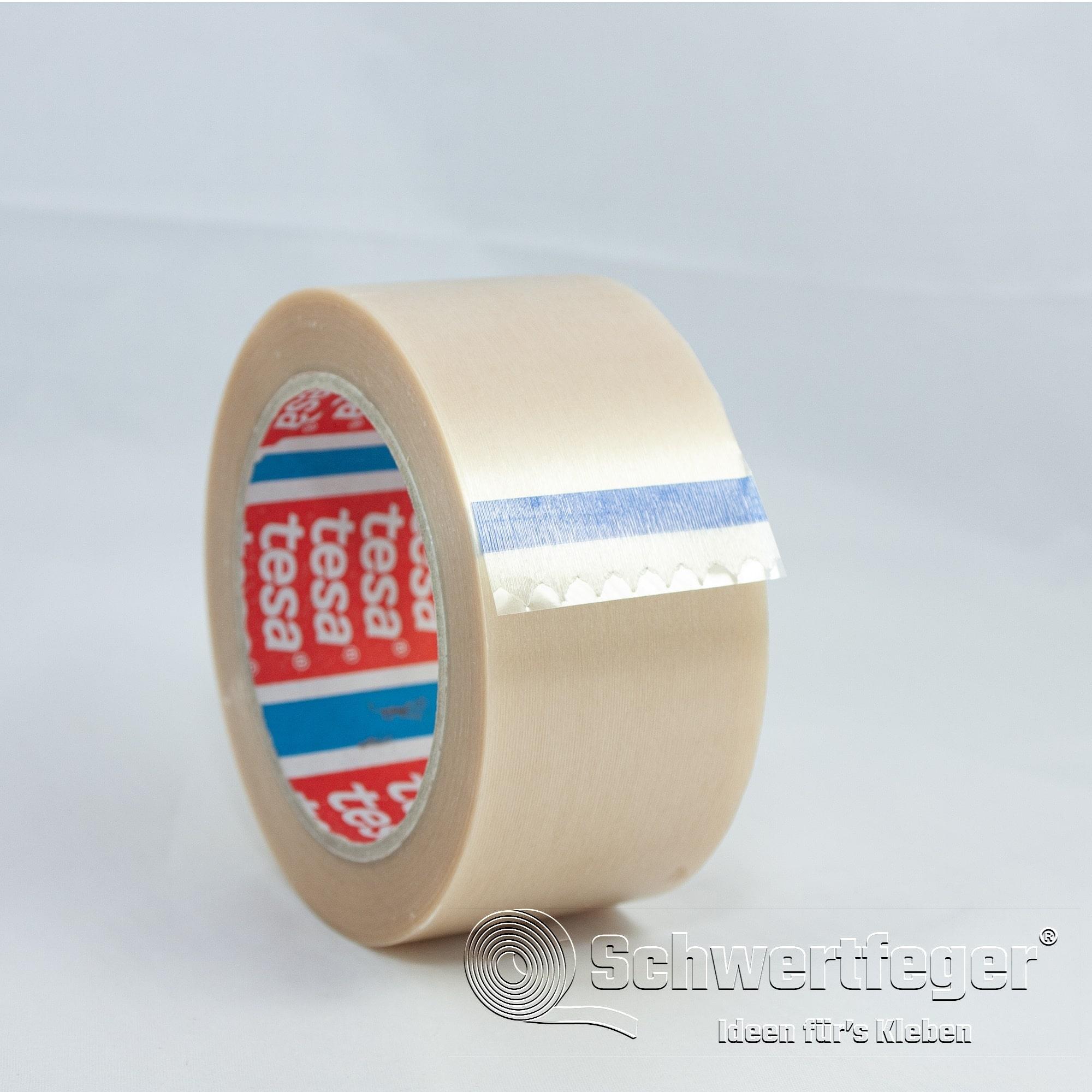 tesa 4100 PVC Klebeband strukturiert transparent 50 mm x 66 m lang