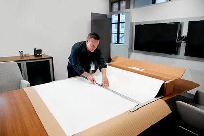 Post-it® Super Sticky Dry Erase Film DEF50x4-EU, 15.24 m x 1.21 m
