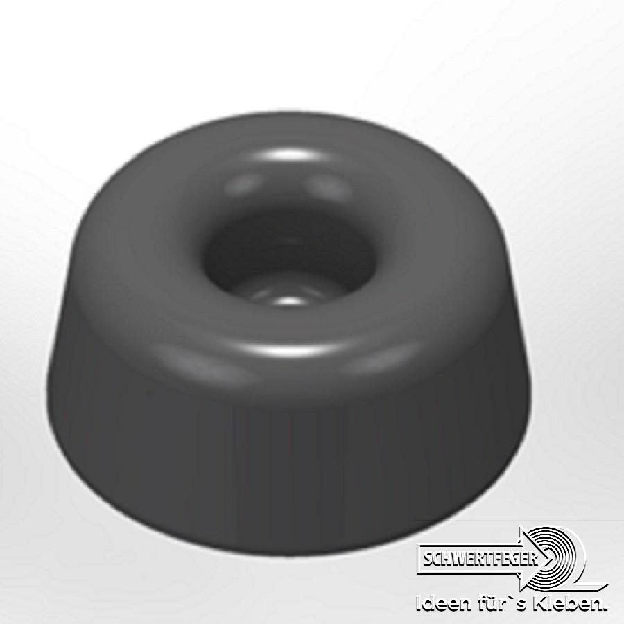 3M SJ 5009 Elastikpuffer schwarz Breite 22,3 mm Dicke 10,1 mm