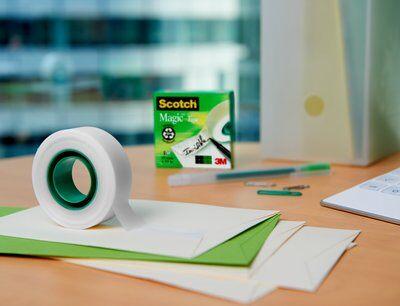Scotch® Magic™ Unsichtbares Klebeband, 16 Rollen, 19 mm x 33 m + Tischabroller