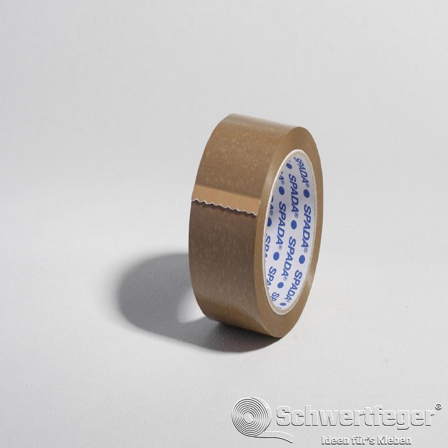 PVC Packband SPADA® 500 mit Naturkautschukkleber braun 19 mm x 66 m