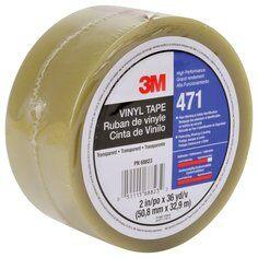 3M™ 471 Hochwertiges Weich-PVC-Klebeband, 50 mm x 33 m, Transparent