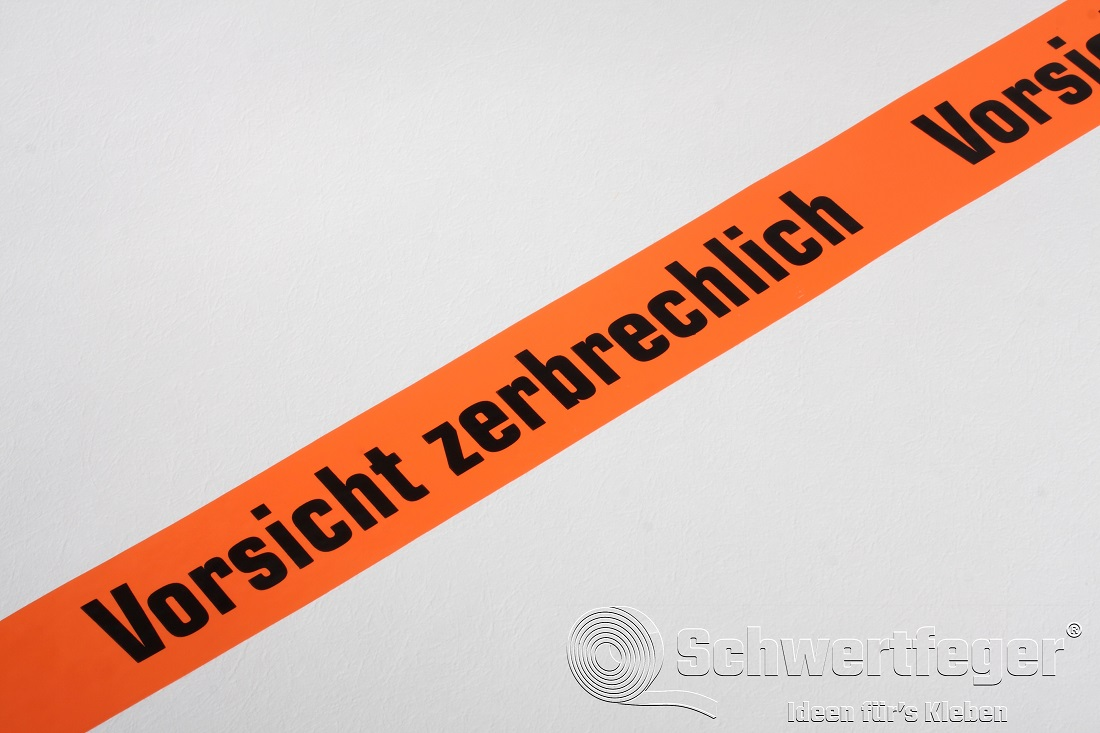 "SPADA® PVC Packband ""Vorsicht zerbrechlich"" 50 mm x 66 m"