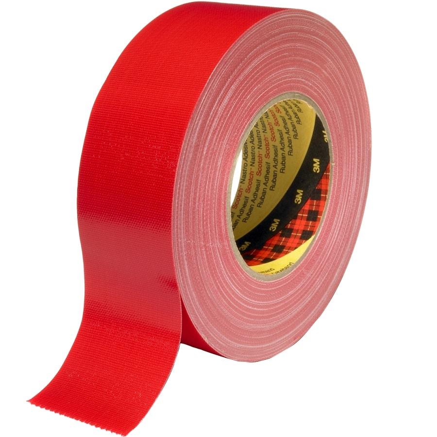 3M 389 Gewebeklebeband rot 50 mm x 50 m
