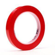 3M™ 471 Hochwertiges Weich-PVC-Klebeband, 12 mm x 33 m, Rot
