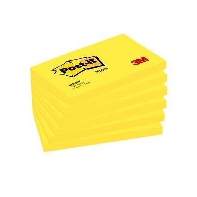 Post-it® Notes 655NGE, 127 x 76 mm, neongelb, 1 Block à 100 Blatt