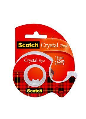 Scotch® Crystal Klebeband 1 Rolle 19 mm x 7,5 m + Handabroller