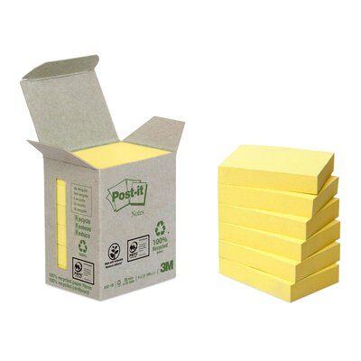 Post-it® Recycling Notes 6531B, 51 x 38 mm, gelb, 6 Blöcke à 100 Blatt